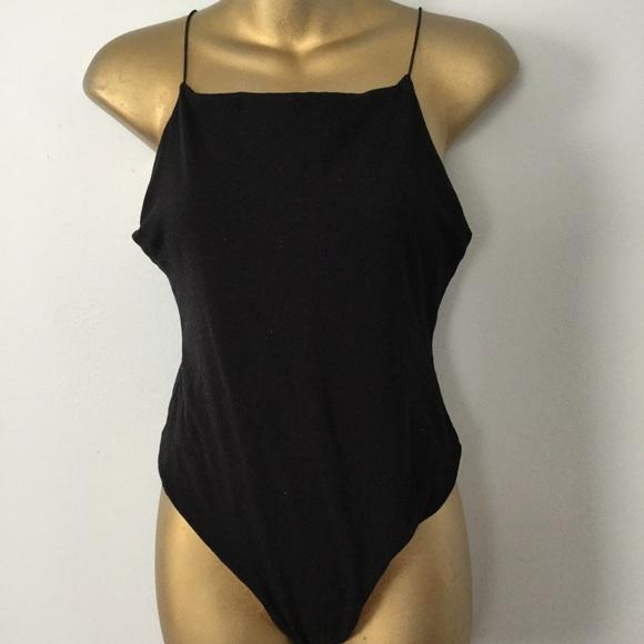 Topshop Tops - Topshop black straight neckline Onesie size 10